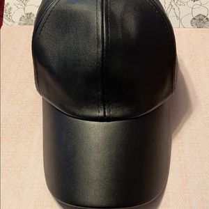 Vera Faux leather hat adjustable never worn
